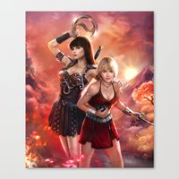xena Canvas Prints featuring Xena Resurrection by K.Koji
