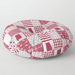 Alabama bama crimson tide cheater quilt state college university pattern footabll Floor Pillow
