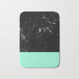 Mint Meets Black Marble #1 #decor #art #society6 Bath Mat