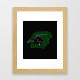 Pink phone Framed Art Print