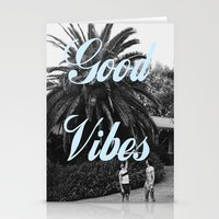 good vibes Stationery Cards featuring good vibes by Hannah