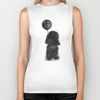 death star Biker Tanks featuring darth vader & death star! by Darthdaloon
