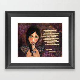 She is Beautiful Framed Art Print
