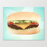 hamburger Canvas Prints featuring Hamburger by Tyler Keff Beasley