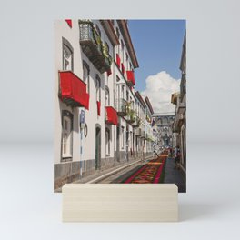 Street in Ponta Delgada Mini Art Print