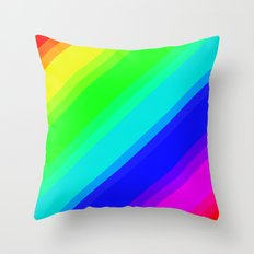 Brightly Coloured Stripes Throw Pillow