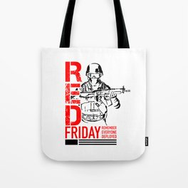 Red Friday Military 2 Tote Bag