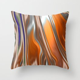 Monochrom Golden Age Splash Abstract Throw Pillow