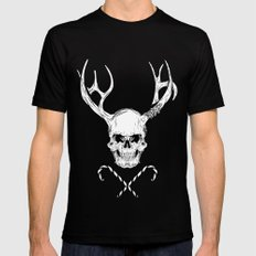 Creepy Xmas Black MEDIUM Mens Fitted Tee