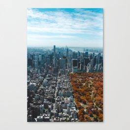 Central Park New York City Skyline Canvas Print