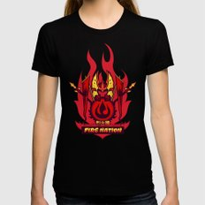 Avatar Nations Series - Fire Nation Womens Fitted Tee MEDIUM Black