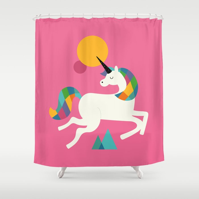 To be a unicorn Shower Curtain