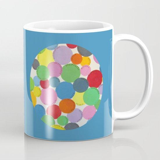 Word Bubbles Blue Coffee Mug