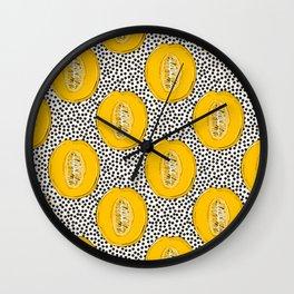Melon summer print Wall Clock