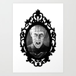 Pinhead (Framed Horror) Art Print