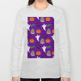 Spooky halloween print Long Sleeve T-shirt