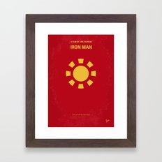 No113-1 My Iron 1 minimal movie poster Framed Art Print