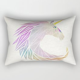 unicorn cercle Rectangular Pillow