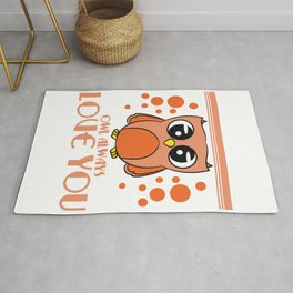 Do you love owls? A cute I just freaking love owls t-shirt design just for you! Cute Brown Owl Rug
