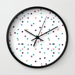 Party Confetti Pattern Wall Clock