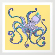 Octopus Queen Art Print