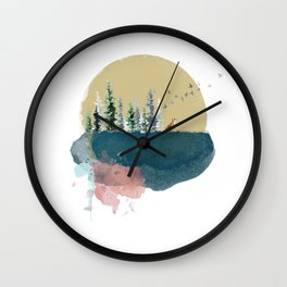 Forest on the moon... Wall Clock