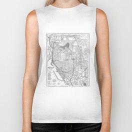 Vintage Map of Buffalo New York (1891) BW Biker Tank