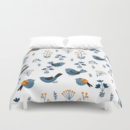 Modern Birds Pattern Duvet Cover