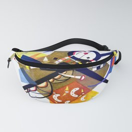 Kandinsky On White II (Auf Weiss) 1923 Artwork Reproduction, Design for Posters, Prints, Tshirts, Me Fanny Pack