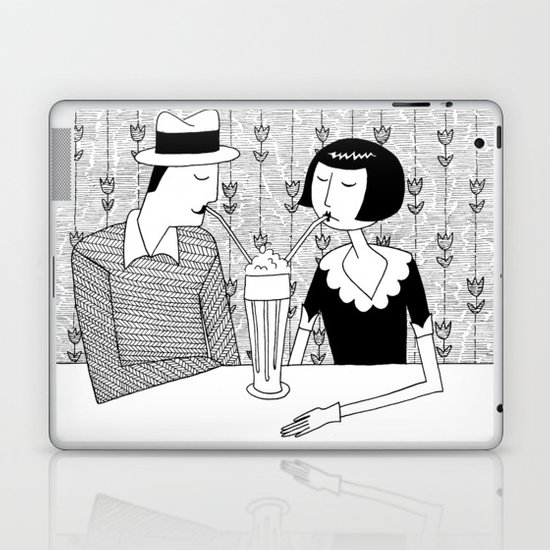 They shared a chocolate shake and some dreams Laptop & iPad Skin