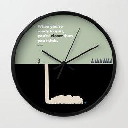 Lab No. 4 - Bob Parsons Inspirational Typography Print Poster Wall Clock