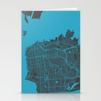 san francisco map Stationery Cards featuring San Francisco by Map Map Maps