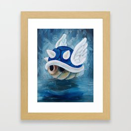 Blue Shell Framed Art Print