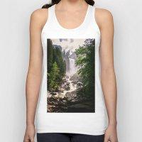 yosemite Tank Tops featuring Yosemite Waterfall by Loaded Light Photography
