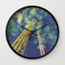 Happy metal yellow Wall Clock