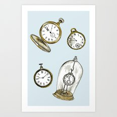 Clocks Art Print