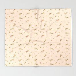 Cephalopods on Blush 1 Throw Blanket
