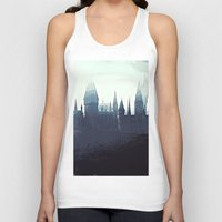 potter Tank Tops featuring Harry Potter - Hogwarts by Juniper Vinetree