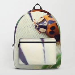 Ladybug On Flower Backpack