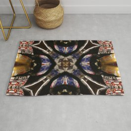 342  navy gold red Rug