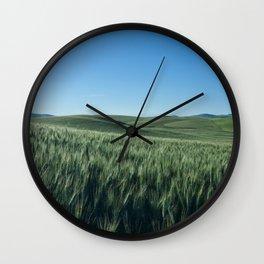 Wheat Fields Photography Print Wall Clock