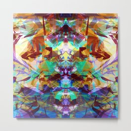 Chemical Symmetry Abstract Print Metal Print