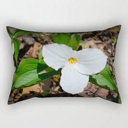 White Trillium by Teresa Thompson Rectangular Pillow
