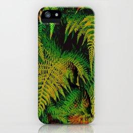 Camouflage Hidden Buddha in Ferns iPhone Case