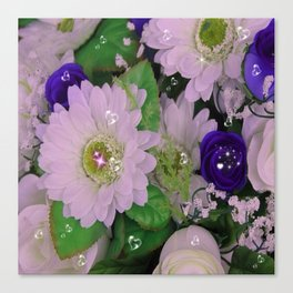 """flowers with """"bling"""" Canvas Print"""