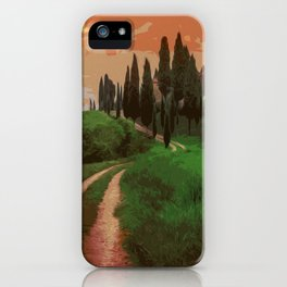Tuscany, fairy landscape iPhone Case