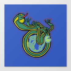 Celtic Frog letter D Canvas Print