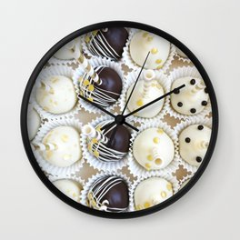 Colorful cake pops Wall Clock