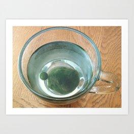 Marimo in a Tea Glass Art Print