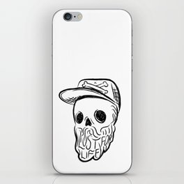 Lust For Life - Digital Skull Traveller Illustration iPhone Skin